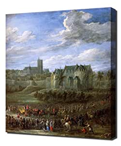 David Teniers The Younger - Arrival Of Christina Of Sweden In Brussel - Repro...