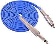 Tattoo Machine Clip Cord CHUSE RCA Silicone Machine Voeding kabel 2,4 M Lengte Blauw
