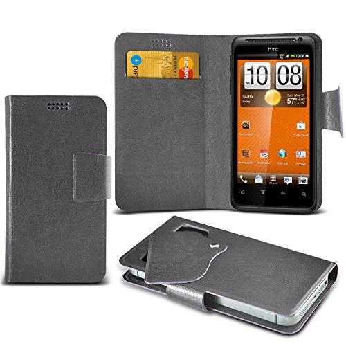 (Hot Pink) HTC EVO Shift 4G Mega sottile Protezione in ecopelle ventosa Custodia a portafoglio Pelle Copertura Caso Cover con carta di credito/debito Slot Aventus
