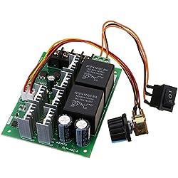 LaDicha Dc 10-50V 12/24/48V 60A Pwm Controlador De Velocidad Del Motor De Cc Cw Ccw Interruptor Reversible