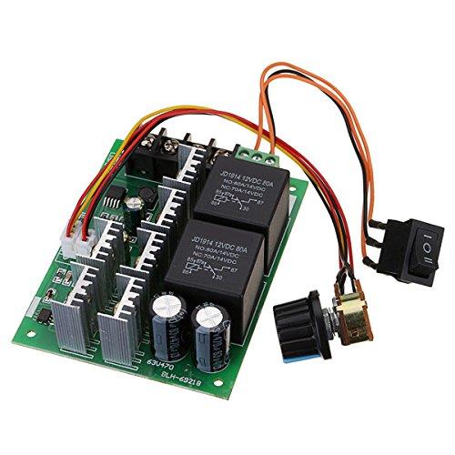 LaDicha Dc 10-50 V 12/24/48 V 60A Pwm Dc Motor Drehzahlregler Cw Ccw Reversible Schalter
