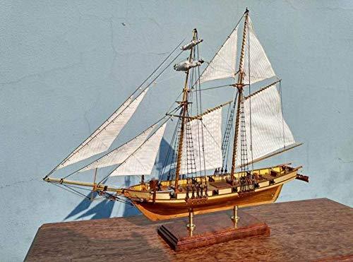 MADOUR Maquetas de Barcos Kits de Modelo de Barco Escala 1/96 Clásicos Kits de maquetas de Barcos de Vela de Madera Antiguos1847 maquetas de Barcos de Madera