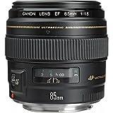 Canon portretlens EF 85 mm F1.8 USM voor EOS (vaste brandpuntsafstand, 58 mm filterschroefdraad, autofocus) zwart