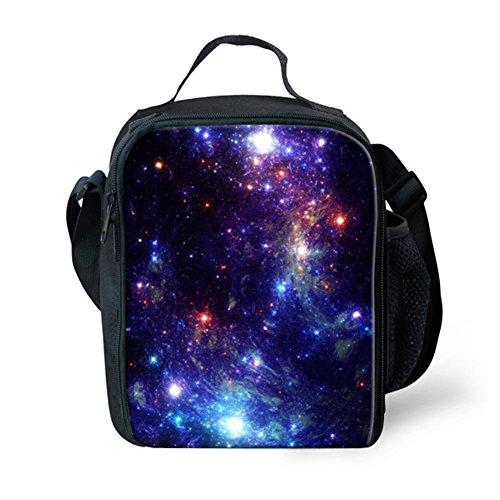 hugsidea trendigem Galaxy Print Lunchpaket mit Wasser Flasche Tasche für Kind (Für Flasche Wasser Lunchboxes)