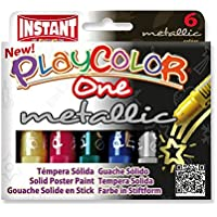 Instant - Playcolor Metallic - Gouache solide en stick - 6 couleurs - 10 g