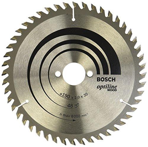 Bosch Professional Kreissägeblatt Optiline Wood (für Holz, 190 x 30 x 2,0 mm, 48 Zähne, Zubehör Kreissäge)