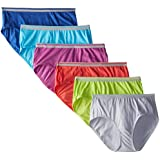 Fruit of the Loom Women's 6 Pack Heather Low-Rise Brief Panties