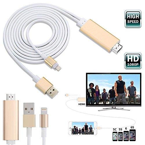 8 Wege Vga Splitter (mycs 8Pin 2m Apple Lightning auf HDMI HDTV AV Kabel Adapter für iPhone 66S 5S 5UK)