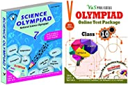 Olympiad Class 7 Online Practice Tests + Science Book For NSO (Set Of 2 Books)