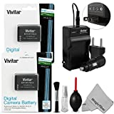 (2 Pack) Vivitar EN-EL23 Battery and Cha...