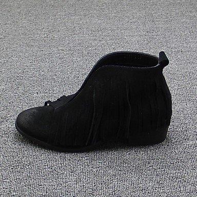 Bottes pour femmes de confort décontracté Daim Printemps Black