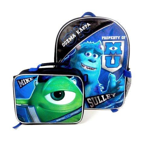 Disney Monsters University Rucksack mit abnehmbarer Lunch Box-Set