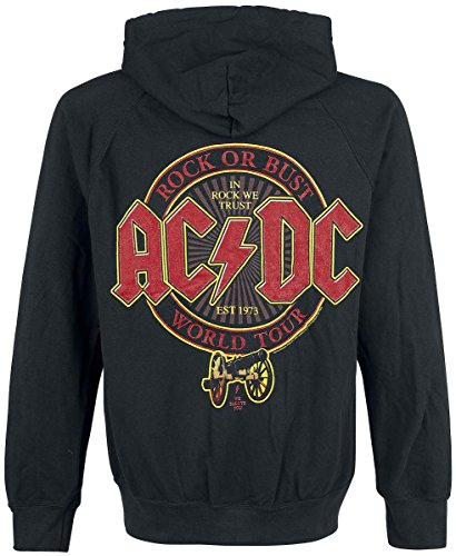 AC/DC Rock Or Bust Tour 2016 Sweat à capuche zippé noir Noir