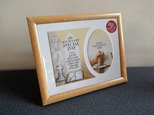 iöse Zeremonie Memory Halterung Geschenk von 'mit einer Auswahl von Rahmen und Platz für ein Foto, holz, Brown Frame, 25 x 20 cm ()