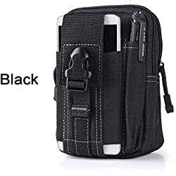 Origlam Nylon táctico Molle bolsa, teléfono celular Clip para cinturón Holster, utilidad EDC Gadget bolsa, cintura bolsa para herramientas, al aire libre deporte 5,5–6inch Gear para iPhone 66S Plus Samsung Galaxy Note 5LG