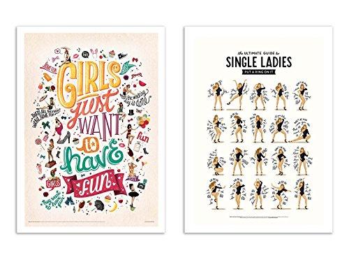 Beyonce Sexy Poster (2 Art-Posters 30 x 40 cm - Single Ladies - Nour Tohme)