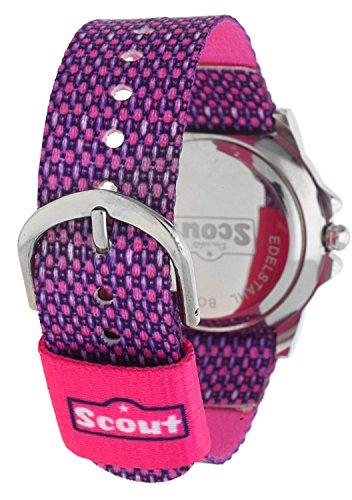 Scout Mdchen Analog Quarz Uhr mit Textil Armband 280378006 - 3