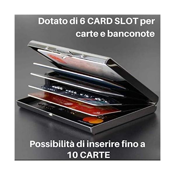 Porta Carte Di Credito Narsam, Rfid Blocco Antifrode Anticlonazione Per Uomo E Donna, Portafoglio Carta Elegante… 5 spesavip