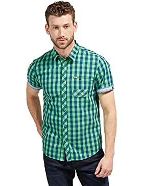Tom Tailor für Männer Shirt / Blouse kariertes Kurzarm-Hemd
