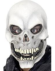 Totenkopf Latex Maske - Gruselige Maske Skelett, Toter, Leiche oder Gespenst für Halloween