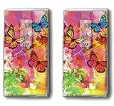 2x 10 Taschentücher World of colours – Welt der Farben / Schmetterlinge / Frühling / Motivtaschentücher