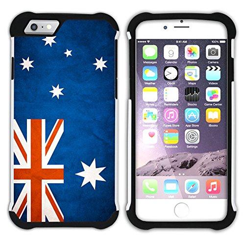 Graphic4You Vintage Uralt Flagge Von Neuseeland Neuseeländer Design Hart + Weiche Kratzfeste Hülle Case Schale Tasche Schutzhülle für Apple iPhone 6 / 6S Australien Australier