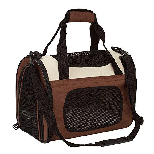 Transportbox für Tiere Hunde Katzen Kätzchen Welpen Flugzeugzulassung Faltbar Extrem Leicht Weiche Seiten Herausnehmbare Matte Reisetasche Auch für Lebensmittel Geeignet (Tote Nylon-zwei Tasche)