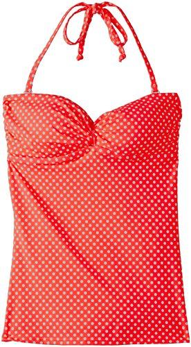 Marie Meili Damen Tankini Sanibel Tankini, Orange - Orange (Neon Coral Dot), Gr. XL (Herstellergröße: 16)