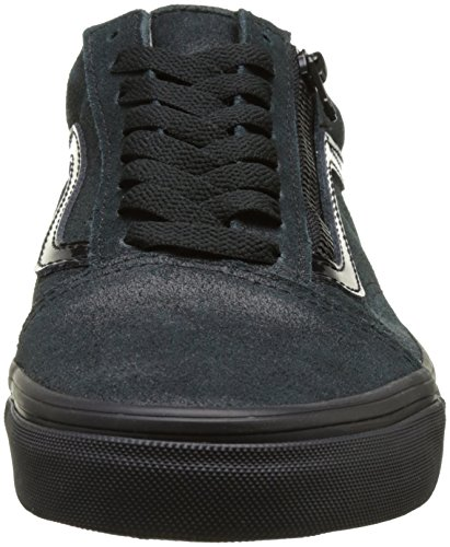 Vans Old Skool Zip, Sneakers basses mixte adulte Noir (Patent Crackle)