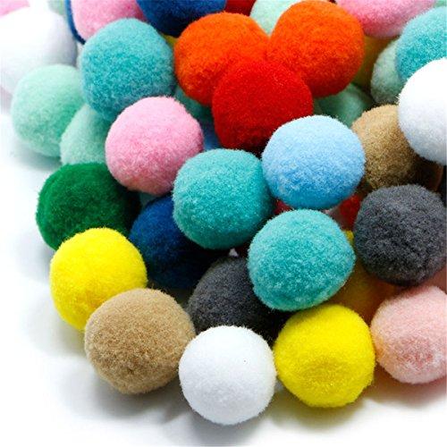 LKXHarleya 100 Teile/Satz DIY Mischfarbe Mini Flauschigen Weichen Pom Poms Pompoms Ball Nähen Kunst und Handwerk -
