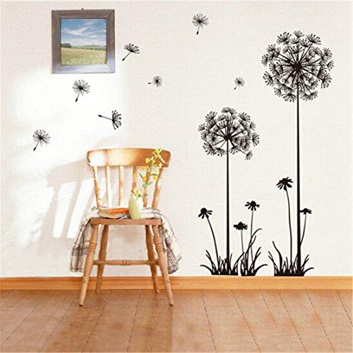 SUNMUCH Löwenzahn schälen und Stick riesige Wandtattoos, Wohnzimmer Schlafzimmer Abnehmbare Wand Aufkleber ()