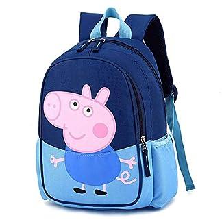 51s6OAJt7tL. SS324  - ERHU-ChildrenBackpack Mochila Peppa Pig-George, Mochila de Dibujos Animados Resistente al Agua Mochila Escolar para niños, niñas y niños