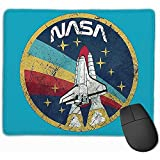 Mouse Mat with Designs USA Space Agency Vintage NASA Mousepad Gaming Mouse Pad Natural Rubber 25X30 cm