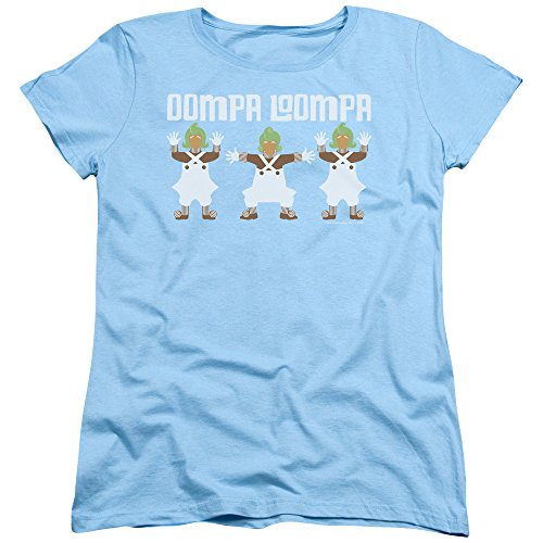 Willy Wonka And The Chocolate Factory - - Frauen Oompa Loompa T-Shirt, Small, Light Blue Oompa Loompa-shirts