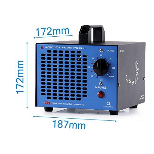 humo Airthereal Generador de ozono comercial generador 5000 mg ozono MA5000 de purificadores de aire de ozono industrial ozonizador esterilizador de aire para habitaciones rojo autos