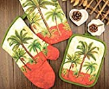 3pcs/Set Owl Cotton Oven Mitts Set Pot Holder Towel Set Kitchen Cooking Tools