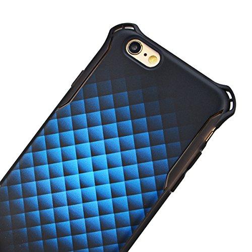 HB-Int 3 in 1 Copertura Dura per Apple iPhone 6 Plus / iPhone 6S Plus (5.5 pollici), Hard Case Cover Creative Design Custodia Ultra Leggera Copertura Anti Graffi Cover + 1 x Stilo + 1 x HD Protezione  Blu