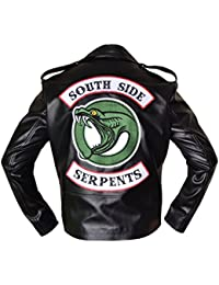 BURNING SKULL BSKULL Riverdale Southside Serpents Vol 2 Men Biker Leather  Jacket Black (XXS- c8a5bcb7db