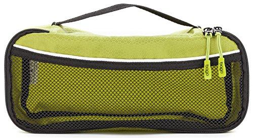 Packwürfel Kleidertaschen Packing cubes Koffertaschen für angenehmes Reisen und aufgeräumte Koffer -Große und mittelgroße Taschen zum Schutz und zur Komprimierung von vielen Kleidungsstücken, Schuhen  Slim-Green