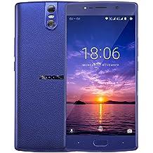 """Moviles Libres Baratos, DOOGEE BL7000 4G Android 7.0 Smartphone Libre, 5.5"""" FHD IPS, MT6750T Octa-core, 4GB RAM + 64GB ROM, Cámaras Traseras Duales 13.0MP, 7060mAh, Huella Dactilar Smartphones (Azul)"""