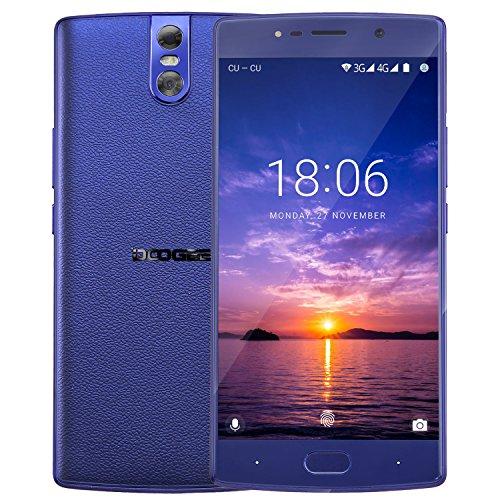 Telephone Portable Debloqué, DOOGEE BL7000 Smartphone 4G, Écran 5,5 Pouces Full HD - Processeur Octa Core - 4Go + 64Go - 13MP + 13MP Double Caméras - Empreinte Digitale - Double SIM Android 7.0 - Bleu