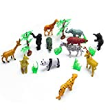 Safari Animal Toy Set Animal Kingdom Deluxe Jungle Playset Large For Boys And Girls Toddler Playset