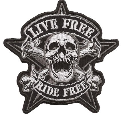 Live Free Ride Free Pirate Skullhead Calavera