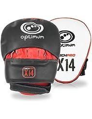 Optimum Tech Pro X14 Pad d'entrainement de boxe Noir/Rouge