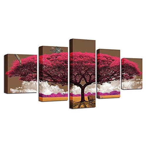 BBQBQ Dekorative Malerei,Wulian HD Inkjet Home Office Malerei Kern hängende Malerei Distel großen Baum verblasst Nicht C 30x40cmx2 30x60cmx2 30x80cmx1