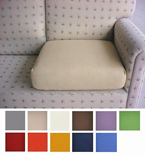 Casatessile Tela Antimanchas: un par de Fundas para Cojines de sillón y sofá Que se Pueden Extender de 50 a 75 cm - Verde - Verde