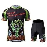 Thriller Rider Sports® Herren Horror Halloween Sport & Freizeit MTB Fahrradbekleidung Radtrikot und Kurze Hose Anzüge Large