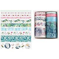 TIZZY 10Pcs / Set DéCoratif Kawaii Washi Tape Set Japonais Papier Autocollants Papeterie Japonaise Fourniture…