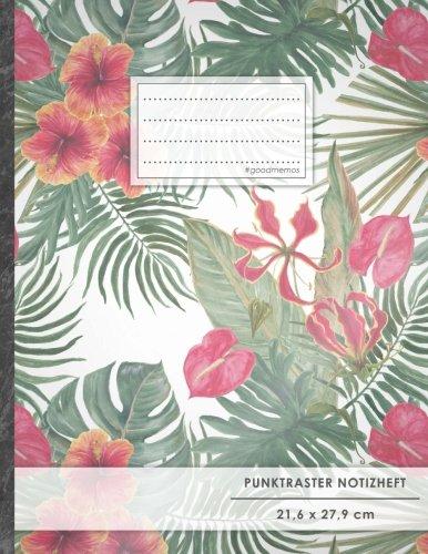 """Punktraster Notizbuch • A4-Format, 100+ Seiten, Soft Cover, Register, """"Dschungelfieber"""" •..."""