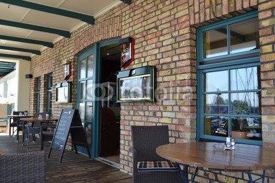 """Poster-Bild 80 x 50 cm: """"Restaurant Eingang"""", Bild auf Poster"""